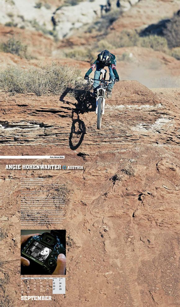 MB Cyclepassion Kalender 2014 09 September Angie Hohenwarter Action