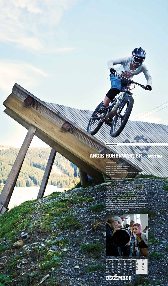 MB Cyclepassion Kalender 2014 12 Dezember Angie Hohenwarter Action