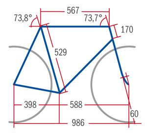 RB 0413 Specialized Tarmac Comp - Geometrie