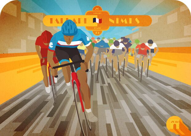 RB Cycling Posters Bruce Doscher Tour de France 11 2014_A2_stage_15_72dpi (jpg)
