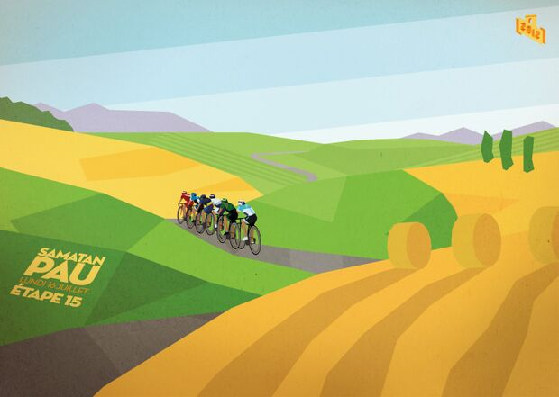 RB Cycling Posters Bruce Doscher Tour de France 16 2012_A2_15_small (jpg)