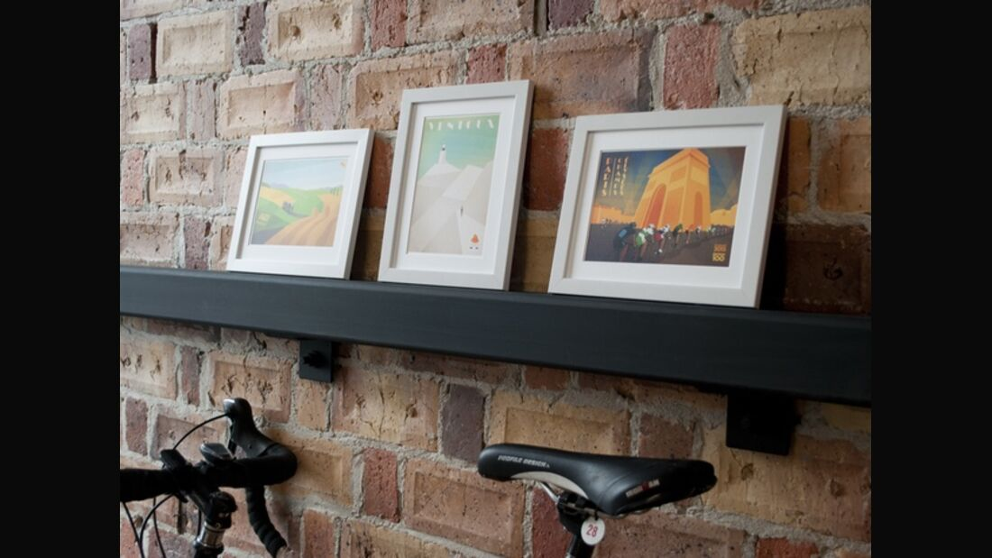 RB Cycling Posters Bruce Doscher Tour de France 2 An arrangement of three framed mini prints. (jpg)