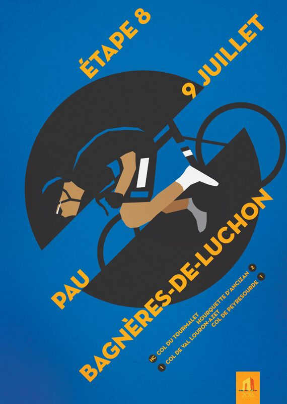 RB Cycling Posters Bruce Doscher Tour de France 5 2016_A2_stage_08_72rgb (jpg)
