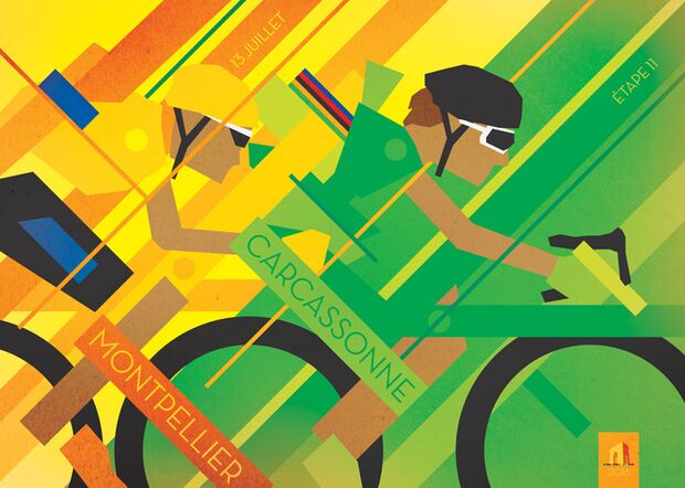 RB Cycling Posters Bruce Doscher Tour de France 6 2016_A2_stage_11_72rgb (jpg)